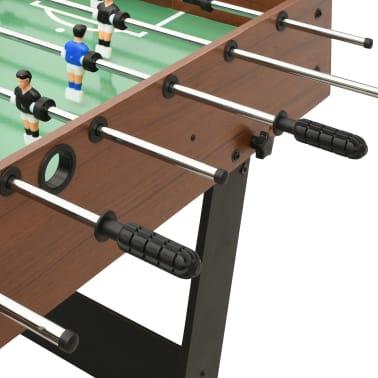 vidaXL Sulankstomas stalo futbolo stalas, 121x61x80cm, rudas[6/11]