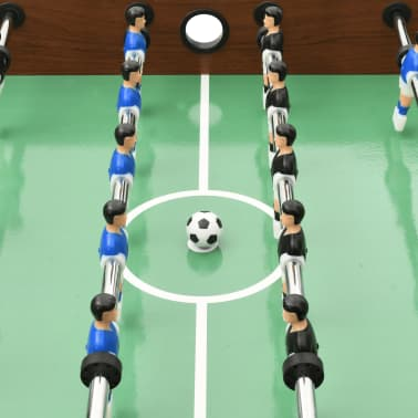 vidaXL Sulankstomas stalo futbolo stalas, 121x61x80cm, rudas[8/11]