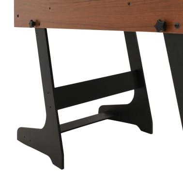 vidaXL Sulankstomas stalo futbolo stalas, 121x61x80cm, rudas[10/11]