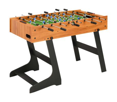 vidaXL foldbart bordfodboldbord 121 x 61 x 80 cm lysebrun