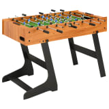 vidaXL Table de football pliante 121 x 61 x 80 cm Marron clair