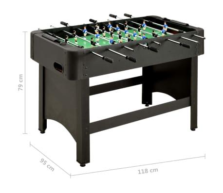 vidaXL Stalo futbolo stalas, juodos spalvos, 118x95x79cm[10/10]