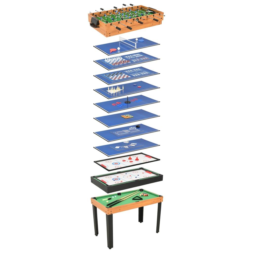 vidaXL Masă de jocuri 15-în-1, 121 x 61 x 82 cm, arțar poza 2021 vidaXL