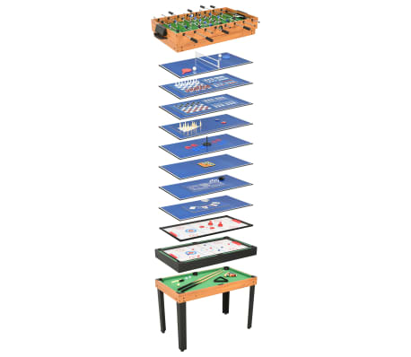 vidaXL 15-in-1 Multi Game Table 121x61x82 cm Maple