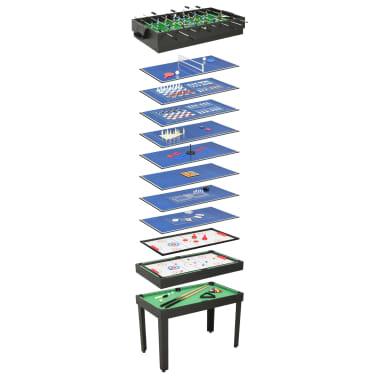 vidaXL Universalus žaidimų stalas, 15-1, juodos spalvos, 121x61x82cm[1/16]