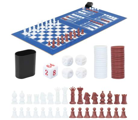 vidaXL Universalus žaidimų stalas, 15-1, juodos spalvos, 121x61x82cm[14/16]