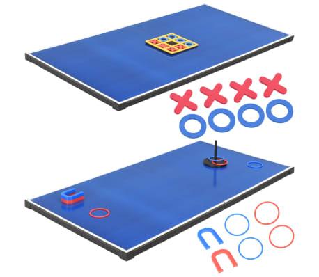 vidaXL Universalus žaidimų stalas, 15-1, juodos spalvos, 121x61x82cm[15/16]