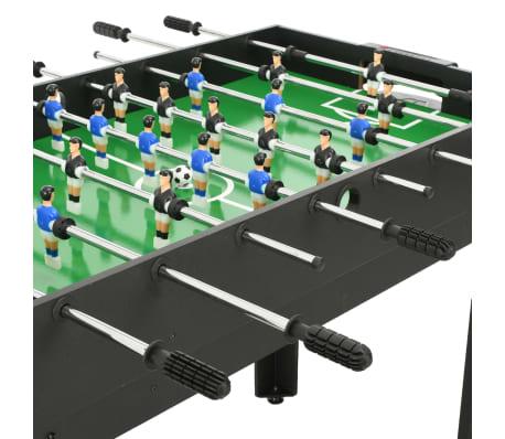 vidaXL Universalus žaidimų stalas, 15-1, juodos spalvos, 121x61x82cm[6/16]