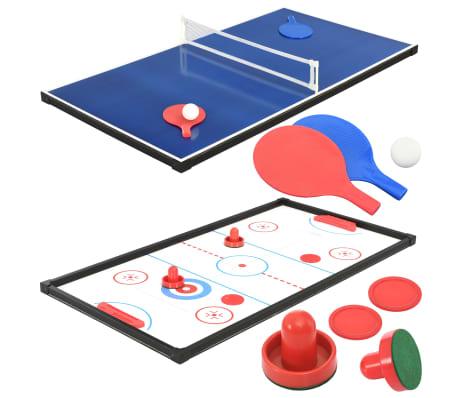 vidaXL Universalus žaidimų stalas, 15-1, juodos spalvos, 121x61x82cm[10/16]