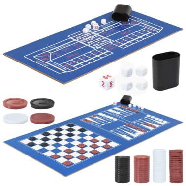 vidaXL Universalus žaidimų stalas, 15-1, juodos spalvos, 121x61x82cm[13/16]