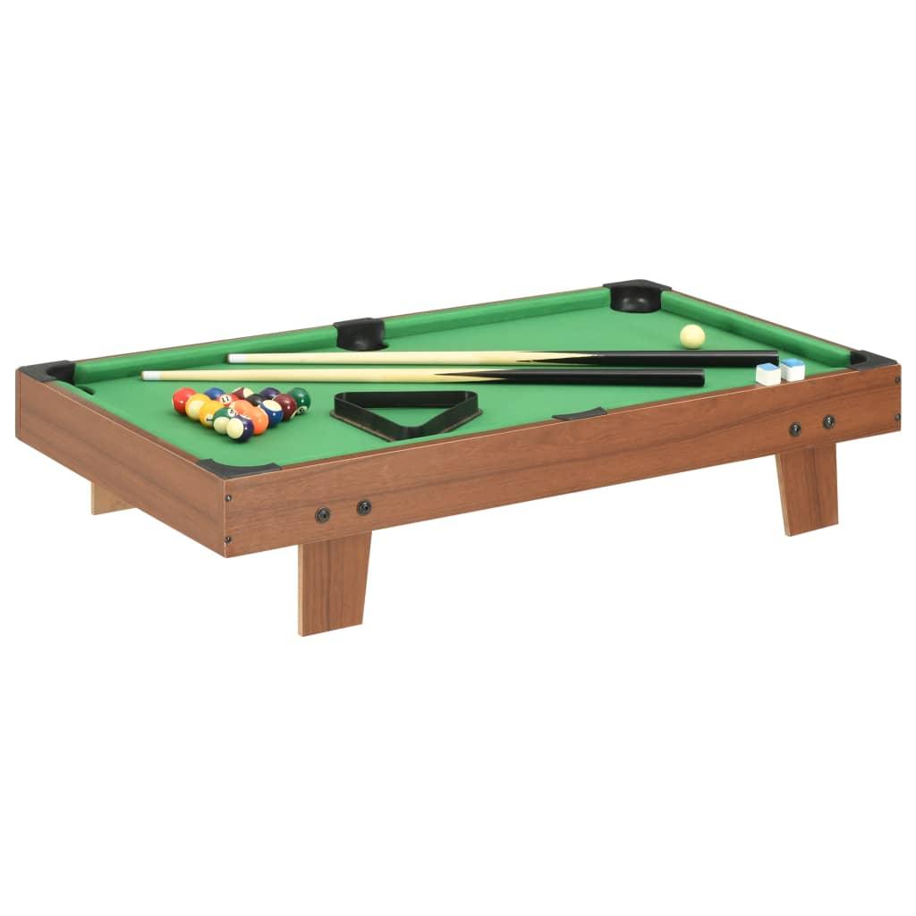 vidaXL Mini masă de biliard, 92 x 52 x 19 cm, maro și verde poza 2021 vidaXL