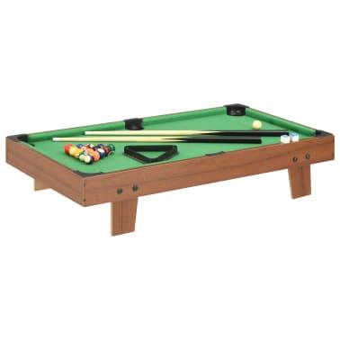 vidaXL Mini biliardo stalas, 92x52x19cm, rudas ir žalias, 3 pėdų ilgio[1/8]