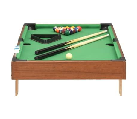 vidaXL Mini biliardo stalas, 92x52x19cm, rudas ir žalias, 3 pėdų ilgio[3/8]