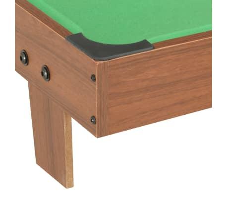 vidaXL Mini biliardo stalas, 92x52x19cm, rudas ir žalias, 3 pėdų ilgio[5/8]