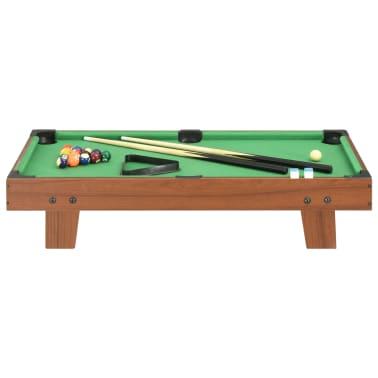 vidaXL Mini biliardo stalas, 92x52x19cm, rudas ir žalias, 3 pėdų ilgio[2/8]