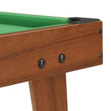 vidaXL Mini biliardo stalas, 92x52x19cm, rudas ir žalias, 3 pėdų ilgio[6/8]