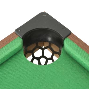 vidaXL Mini biliardo stalas, 92x52x19cm, rudas ir žalias, 3 pėdų ilgio[7/8]