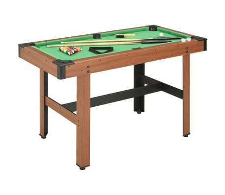 vidaXL 4 Feet Billiard Table 122x61x76 cm Brown