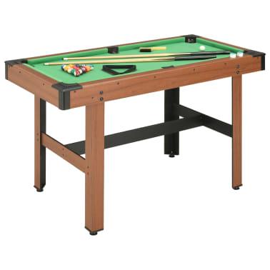 vidaXL Biliardo stalas, 122x61x76cm, rudos spalvos, 4 pėdų ilgio[1/8]