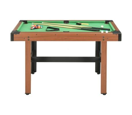 vidaXL Biliardo stalas, 122x61x76cm, rudos spalvos, 4 pėdų ilgio[2/8]