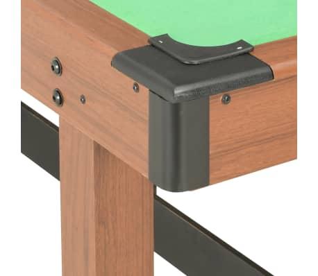 vidaXL Biliardo stalas, 122x61x76cm, rudos spalvos, 4 pėdų ilgio[5/8]