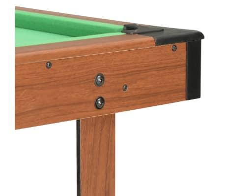 vidaXL Biliardo stalas, 122x61x76cm, rudos spalvos, 4 pėdų ilgio[6/8]