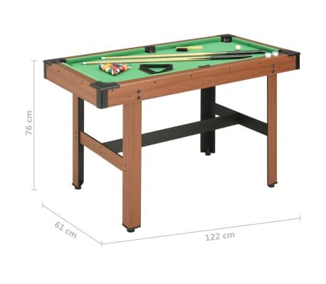 vidaXL Biliardo stalas, 122x61x76cm, rudos spalvos, 4 pėdų ilgio[8/8]