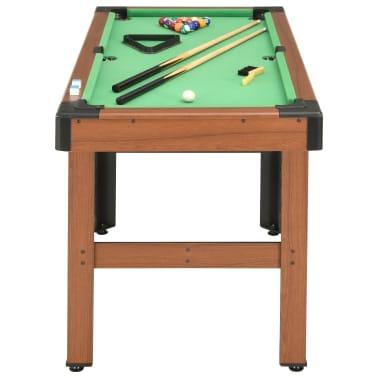 vidaXL Biliardo stalas, 122x61x76cm, rudos spalvos, 4 pėdų ilgio[3/8]