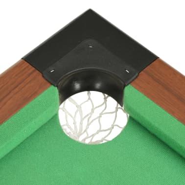 vidaXL Biliardo stalas, 122x61x76cm, rudos spalvos, 4 pėdų ilgio[7/8]