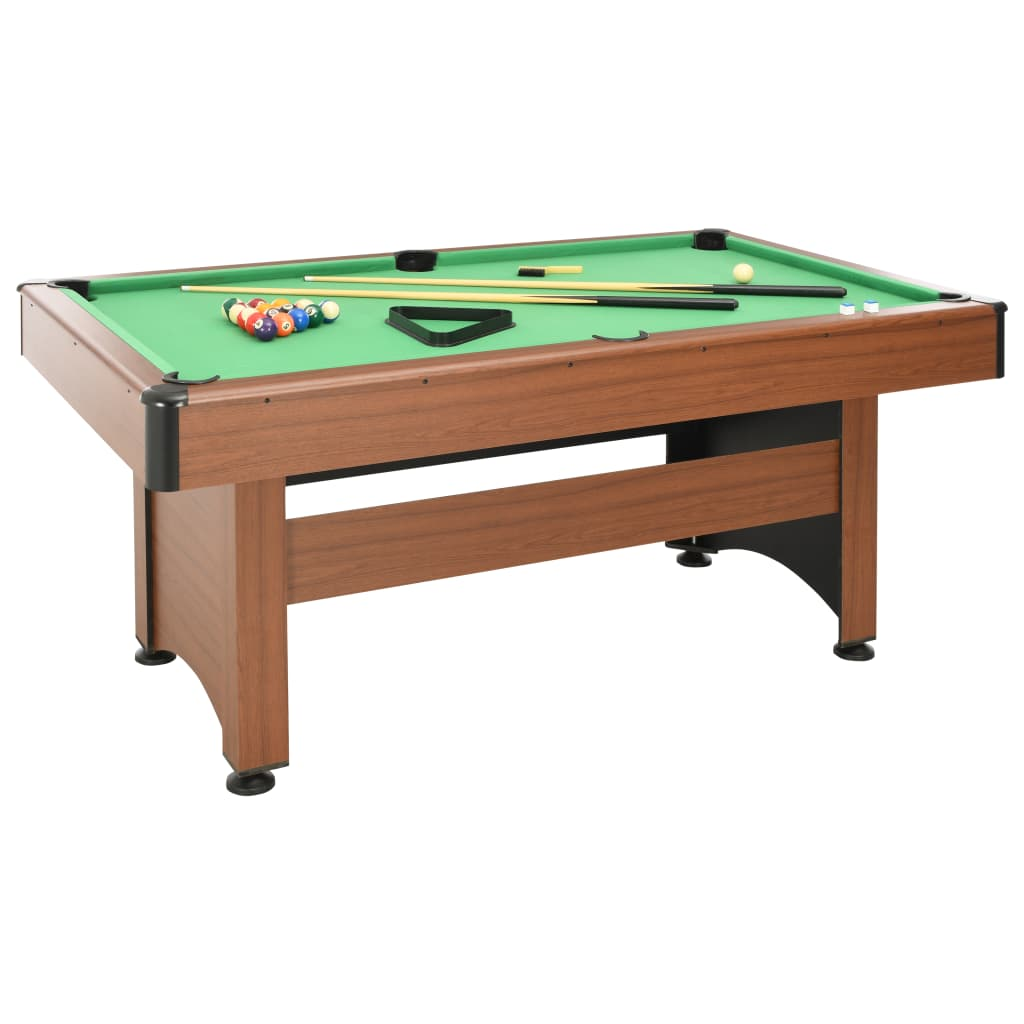 vidaXL 6 Feet Billiard Table 184x108x82 cm Brown