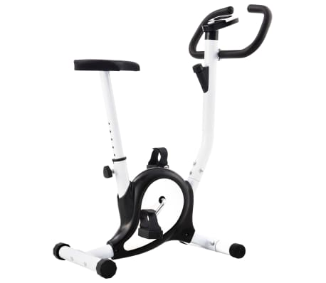 vidaXL Exercise Bike with Belt Resistance Black