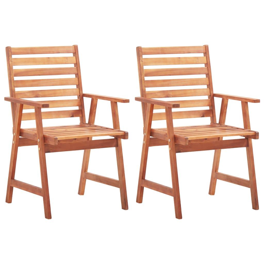vidaXL Krzesła ogrodowe, 2 szt., lite drewno akacjowe