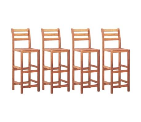 vidaXL Καρέκλες Μπαρ 4 τεμ. από Μασίφ Ξύλο Ακακίας