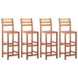 vidaXL Bar Chairs 4 pcs Solid Acacia Wood