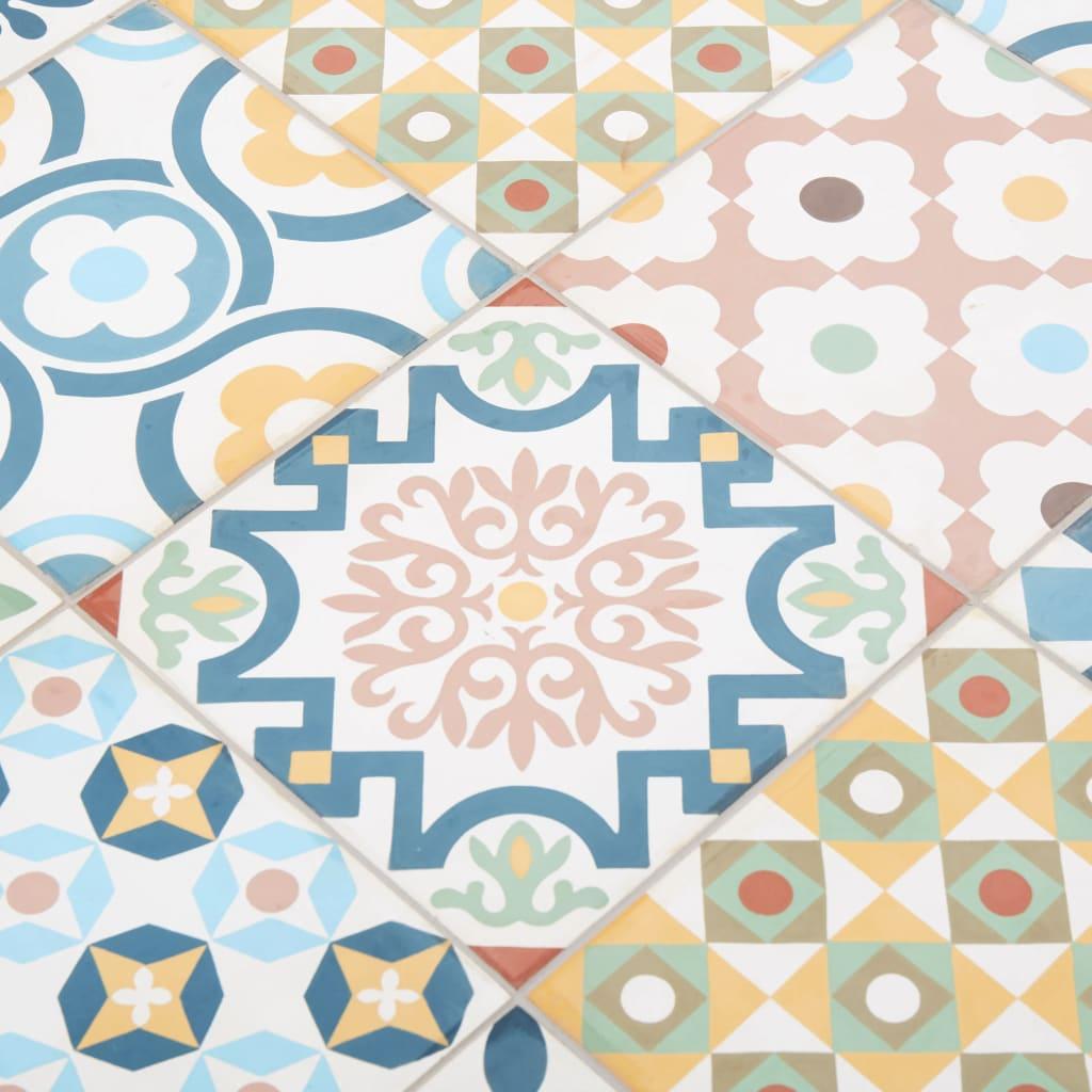 vidaXL Tuintafel 88x88x75 cm tegelblad en massief acaciahout