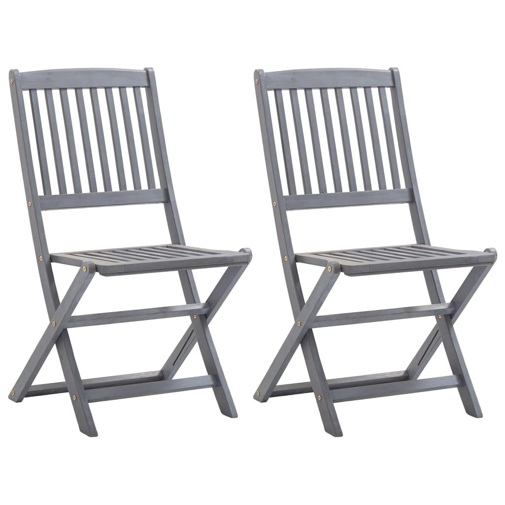Skládací zahradní židle 2 ks masivní akáciové dřevo