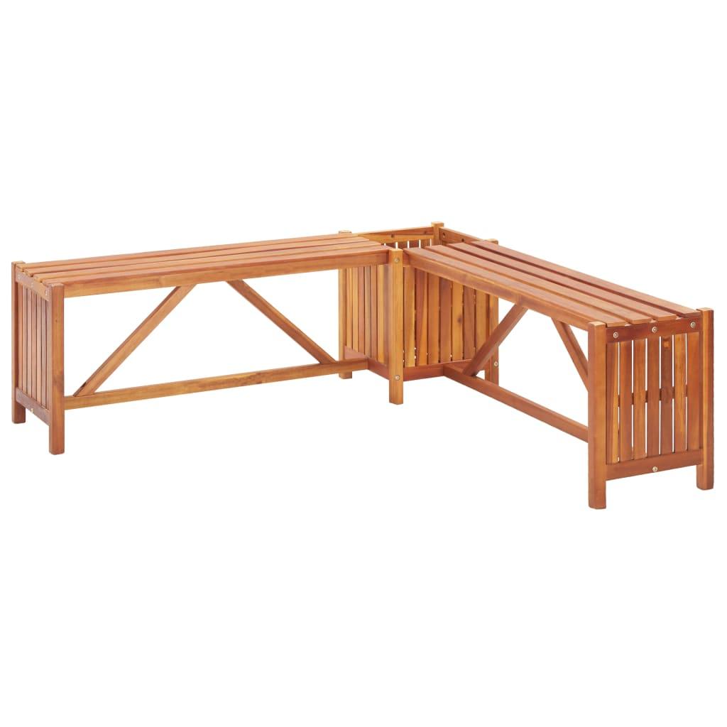 vidaXL Zahradní rohová lavice s truhlíkem 150x150x40 cm masivní akácie