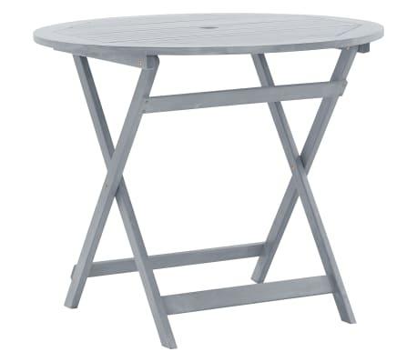 vidaXL Solid Acacia Wood Outdoor Dining Table Garden Table Patio Furniture