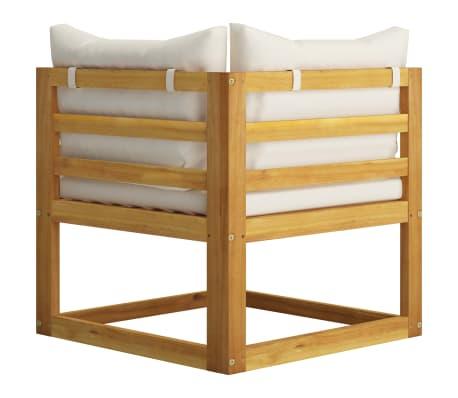 vidaXL 6 Piece Garden Lounge Set with Cushions Solid Acacia Wood[5/12]