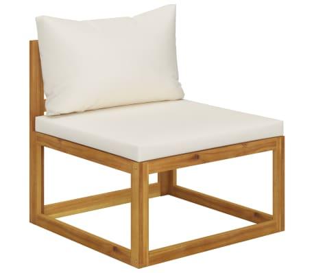 vidaXL 6 Piece Garden Lounge Set with Cushions Solid Acacia Wood[6/12]