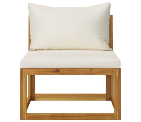 vidaXL 6 Piece Garden Lounge Set with Cushions Solid Acacia Wood[7/12]