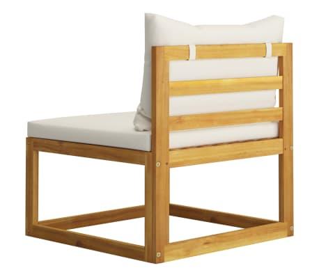 vidaXL 6 Piece Garden Lounge Set with Cushions Solid Acacia Wood[9/12]