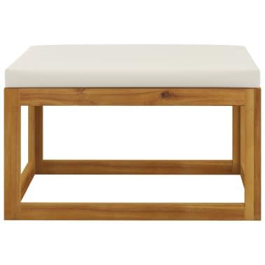 vidaXL 6 Piece Garden Lounge Set with Cushions Solid Acacia Wood[11/12]
