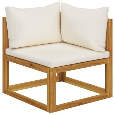 vidaXL 6 Piece Garden Lounge Set with Cushions Solid Acacia Wood[3/12]