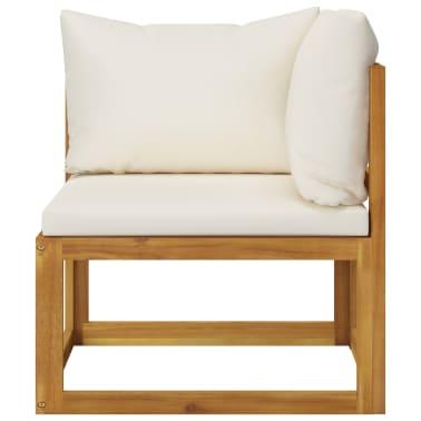 vidaXL 6 Piece Garden Lounge Set with Cushions Solid Acacia Wood[4/12]