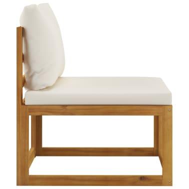 vidaXL 6 Piece Garden Lounge Set with Cushions Solid Acacia Wood[8/12]