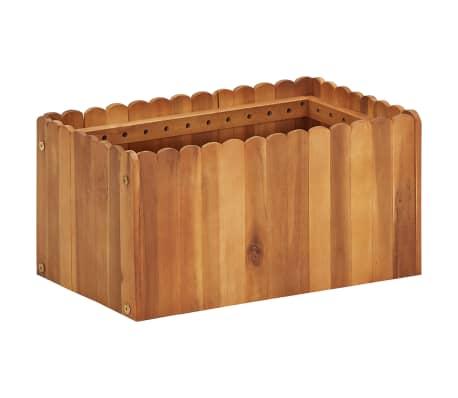 vidaXL Arriate de madera maciza de acacia 50x30x25 cm