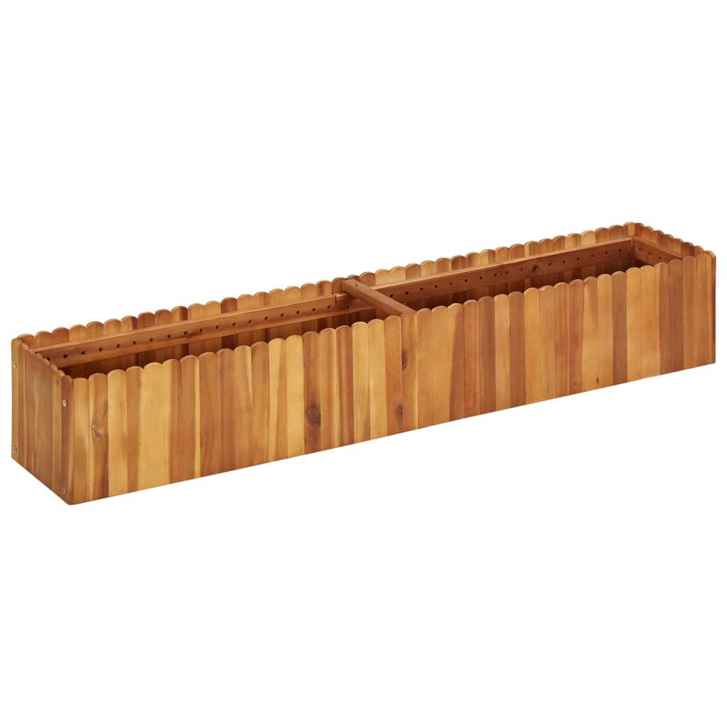 vidaXL Plantenbak 150x30x25 cm massief acaciahout