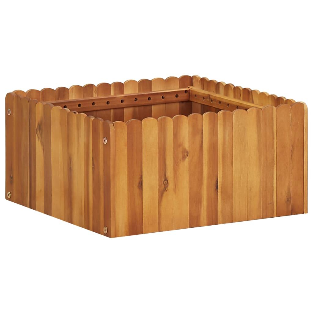 Zahradní vyvýšený záhon 50 x 50 x 25 cm masivní akáciové dřevo