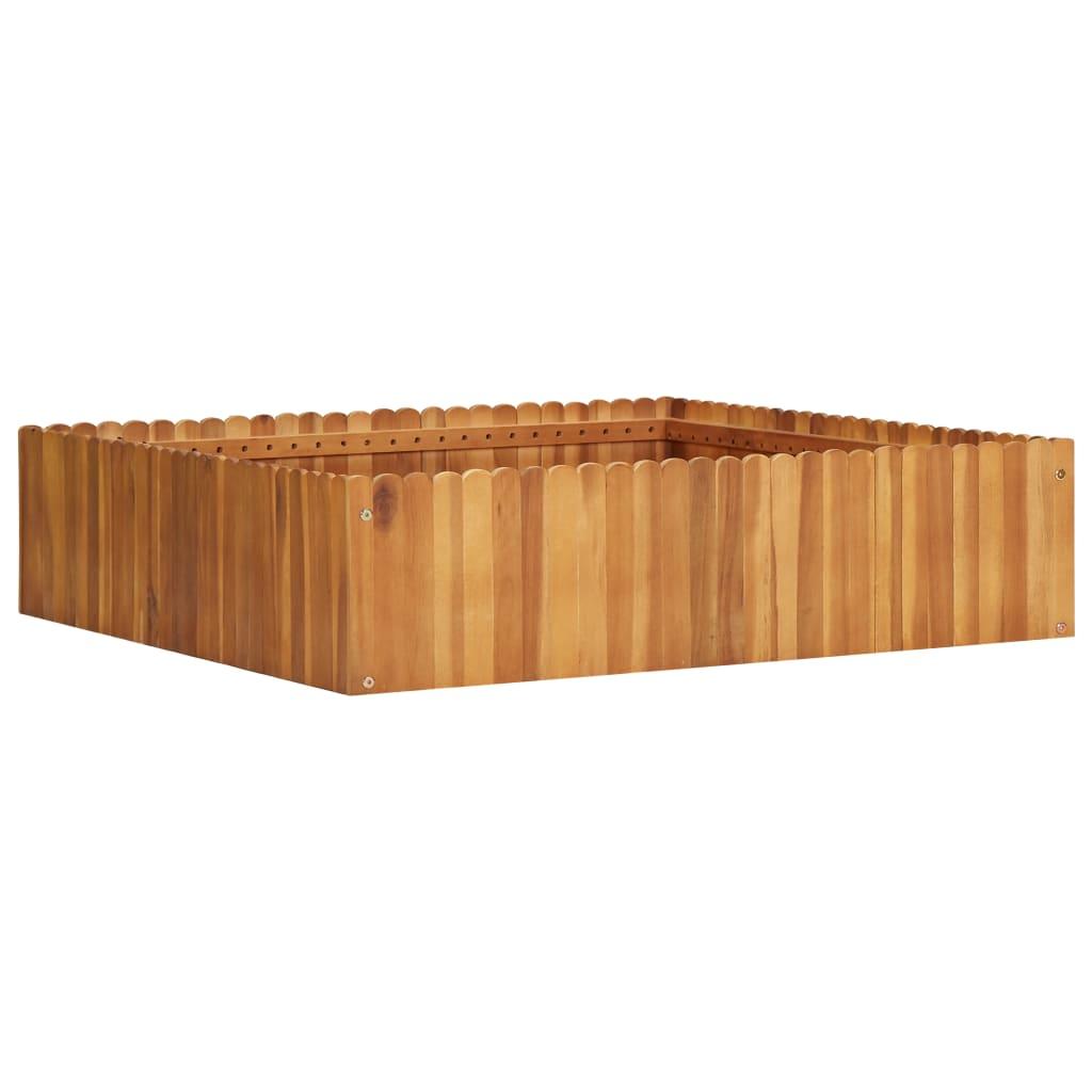vidaXL Strat înălțat de grădină, 100x100x25 cm, lemn masiv de acacia imagine vidaxl.ro